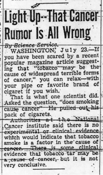 William F Koch Advertisement Smoke Camels